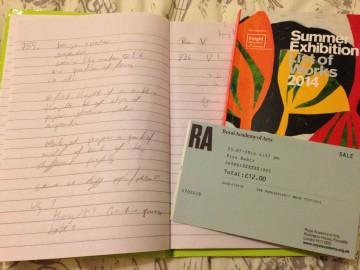 Summer Exhibition - Notes