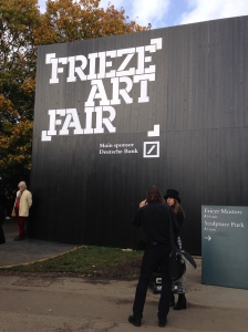 Frieze Art Fair signage