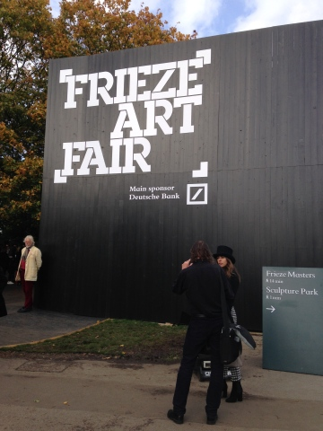 Frieze Art Fair signage
