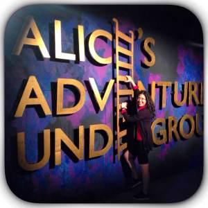 Alice's Adventure Underground (logo + me)