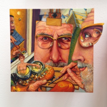 Double Dipper Self-Portrait - by Anthony Green